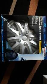 "16"" inch set of 4 Silver Premium Wheel Cover"