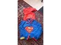 New Superman Pyjamas Size XL-with Cape!