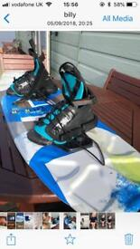 Wake board CWB charger 119. With tyke boots