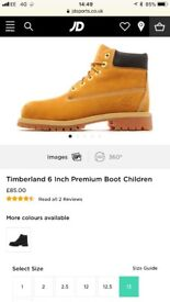 *£50* New Junior Timberlands Size 13