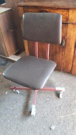 Retro Office or Computer Chair on Castors