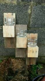 Rustic recycled shelf