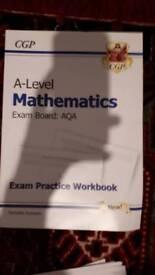 A level maths exam practice workbook AQA