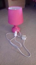 Girls pink lamp