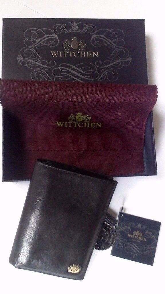 * NEW * WITTCHEN Arizona Mens Wallet, Genuine Leather Black