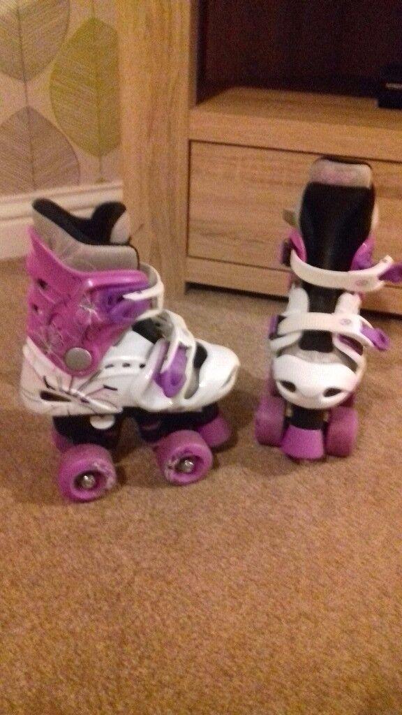 Purple childrens skates