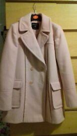 Dorothy Perkins pink coat size 8 ladies