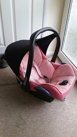 Maxi Cosi Pink Baby Carrier and Car seat