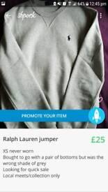 Grey Ralph Lauren jumper
