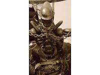 A ONE OFF, COMPLETELY ORIGINAL METAL ARTWORK ALIEN COFFEE TABLE
