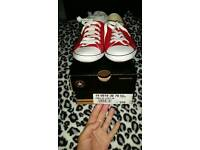 Three Pairs Of Converse..Size 4..Excellent Condition!!!