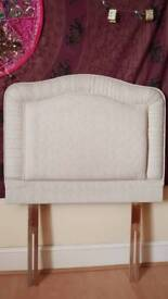 Single bed cream coloured headboard