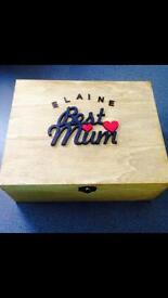 Mother's Day personalised gifts - memory boxes, solar lights, vases, flower pots