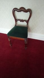 Antique Victorian mahogany dining chair.