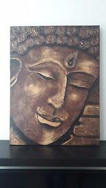 Large Buddha painting