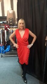 Stunning Amanda Wakeley RED Dress. Suitable for cocktail, formal,party or wedding.