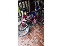 2x bikes 24 inch frame