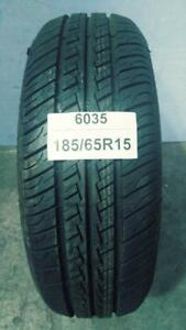 PNEU ÉTÉ USAGÉ / SUMMER USED TIRE 185/65R15 18565R15 MARSHAL KR11 (1 SEUL DE DISPONIBLE)