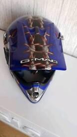***G-MAC junior Motocross/off-road helmet BLUE Medium***