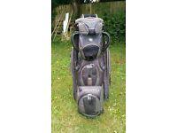Maxfli trolly/cart bag. 9 pockets, 14 dividers, some wear