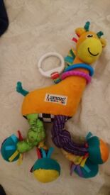 Lamaze Giraffe Plush Toy Clip On Rattle Interactive Baby Toy