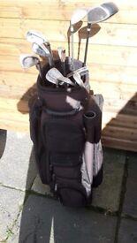 Wilson an Dunlop golf set with trolley