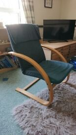 Blue louge chair