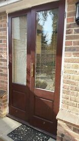 French doors & Slatted Blinds