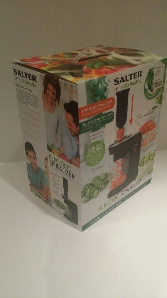 salter electric spiralizer boxed. good xmas christmas present