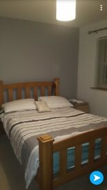 Solid Oak Double Bed