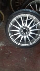 4 toyota alloys with brand new 205/40r17 tyres