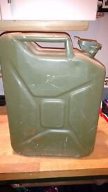 Ex army 5 gallon green metal jerry can