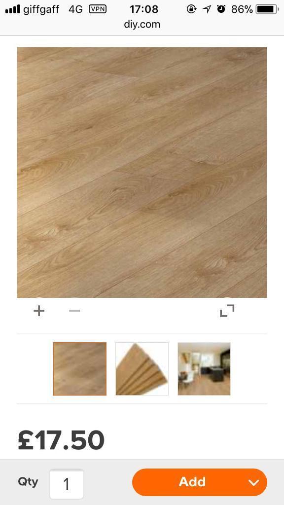 14 Packs Of Milano Oak Effect Laminate Flooring