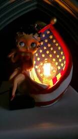 Betty boop lamp with dimmer vintage style 40w squirrel bulb