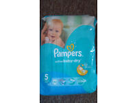 Nappies size 5 and pampers pants 4