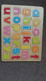 Little tiles alphabet puzzle