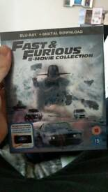 Fast and Furious 1-8 blu ray boxset still wrapped