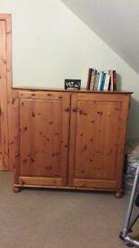 Half Height Pine Wardrobe/Cabinet