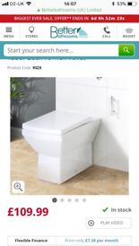 Tabor back to wall toilet( brand new)