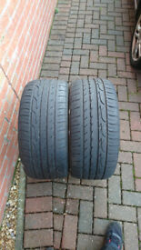 Used tyre 245 40 18 - 5.5mm left