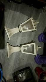 2 pillar lamps