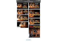 War Horse 2 x Matinee tickets 22/04/18 plus accomodation