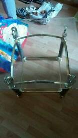 Brass glass table