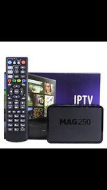 Mag 250 IPTV box with 1 years sub !