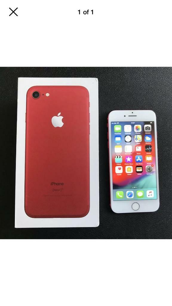 iPhone 7 unlocked 32gb red with box charger | in Sandwell, West Midlands |  Gumtree
