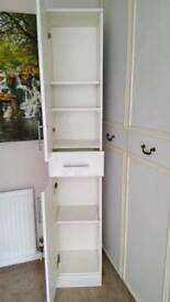 Tall bathroom cabinet in white gloss 350mm x 1900 excellent condition buyer collects