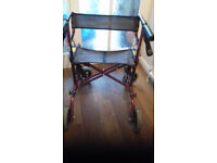 Mobility Walker with seat and shopping back