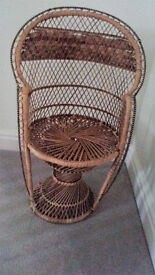 Small Brown Decorative Wicker Chair