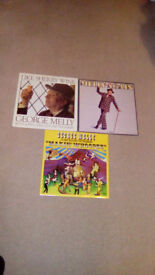 GEORGE MELLY-3 X 12.INCH VINYL LP'S(ONE HAS GEORGE'S AUTOGRAPH,ON IT)-EX