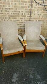 Two vintage armchairs